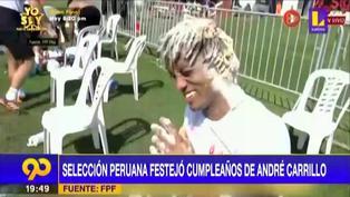 André Carrillo: así fue el festejo de sus compañeros de la Selección Peruana por su cumpleaños (VIDEO)