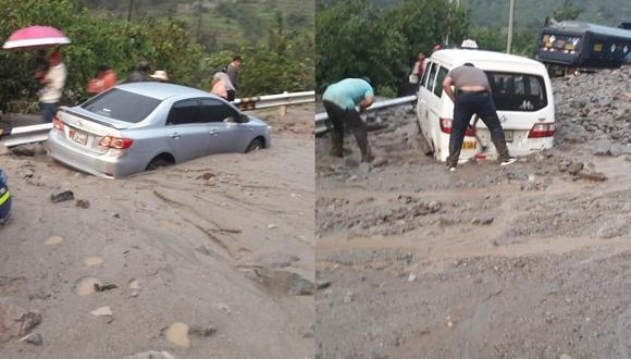 Huaico afecta vía de la Carretera Central en Huarochirí (VIDEO Y FOTOS)