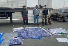 Incautan más de 150 kilos de droga oculta en el falso techo de un camión en Cañete