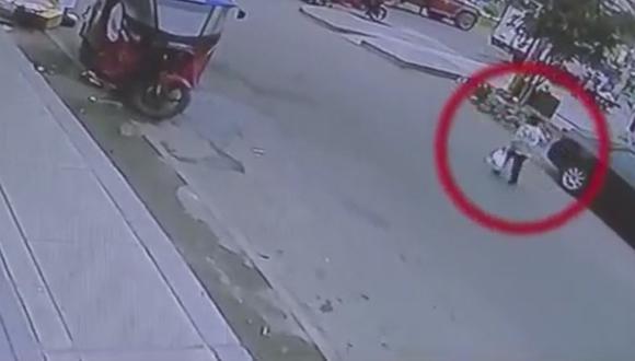 Septuagenaria muere atropellada cuando regresaba de comprar un panetón (VIDEO)