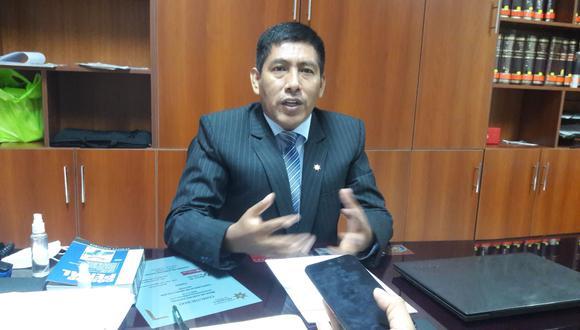 Decano del Colegio de Abogados de Tacna Jaime Montalico Ccalla. (Foto: Correo)