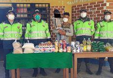 Solidaridad en Huancavelica, padre soltero recibe ayuda de policías
