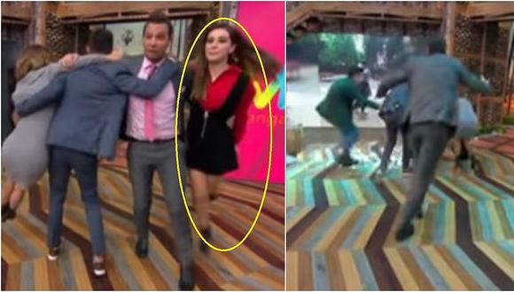 Conductora mexicana sufre aparatosa caída durante juego en vivo (VIDEO)