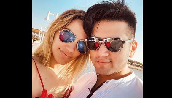 Deyvis Orosco y Cassandra Sánchez De La Madrid en fotos compartidas en Instagram.