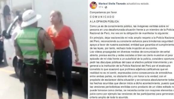 Abogada que insultó a policía pide disculpas, pero duda del video difundido en medios