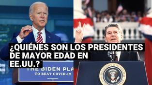 Estos fueron los presidentes de mayor edad de Estados Unidos en sus tomas de posesión?