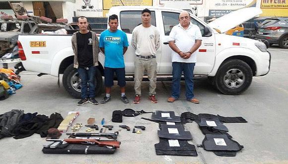 Barranca: capturan a sujetos que transportaban armamento de guerra