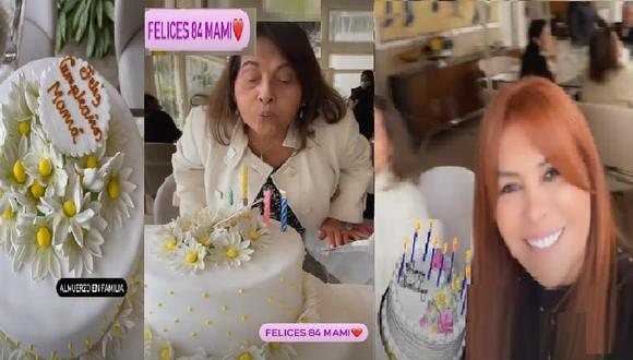 Festejo por el cumpleaños de madre de conductora de espectáculos. (Foto: Instagram Magaly Medina)