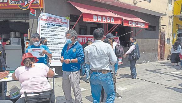 Dirigente de Perú Libre, Humberto Heredia, asegura que personas lejanas al partido organizan actividades para recolectar firmas y lograr la reforma constitucional. Ninguno de estos promotores está afiliado al partido.