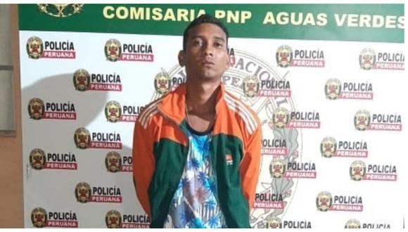 El sujeto fue capturado por efectivos de la Policía Nacional del Perú en el distrito de Aguas Verdes.