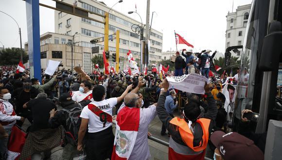 Marchas frente al JNE por elecciones generales. FOTOS: CESAR BUENO / GEC