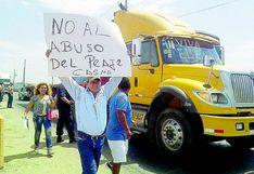 Transportistas piden que se elimine el cobro de peajes