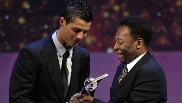 Pelé felicitó a Cristiano Ronaldo por superar los 100 goles con la selección. (Foto: AFP)