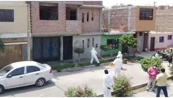 Huaral: limpian y desinfectan calles por el coronavirus. (Video y texto: Paul Reyes)