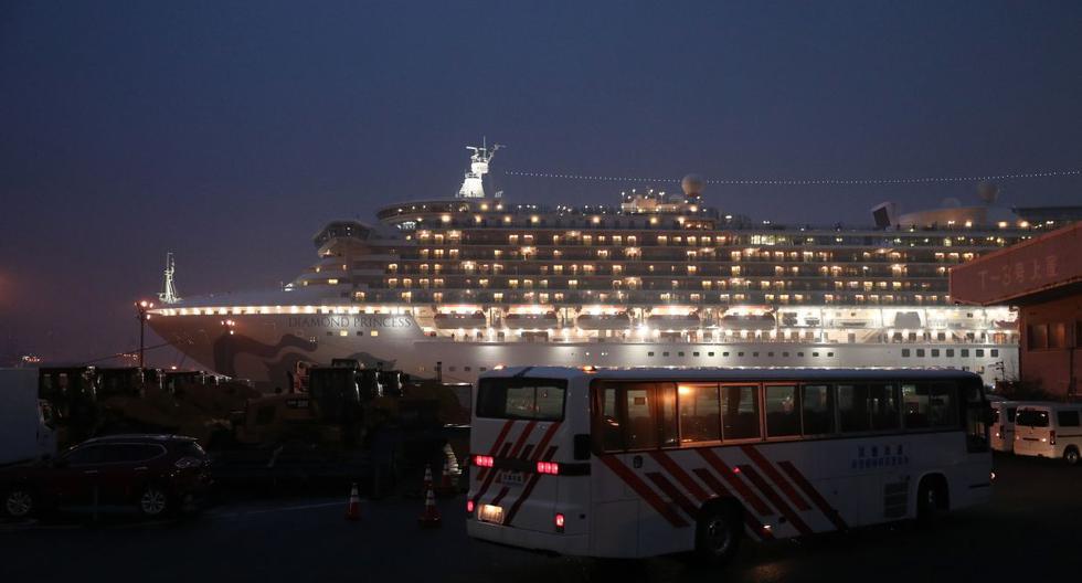 El nuevo coronavirus en un barco en cuarentena frente a las costas de Japón aumentó a 355, dijo el ministro de salud del país. (AFP).