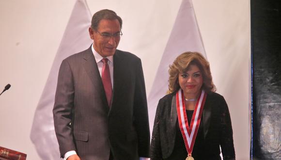 Fiscal de la Nación, Zoraida Ávalos, también se refirió a la investigación contra el expresidente Martín Vizcarra por el 'Vacunagate'. (Foto: Alonso Chero / GEC)