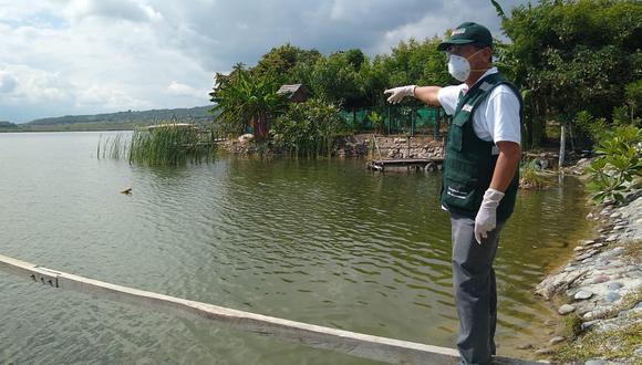 Laguna Burlan, sin presencia de bañistas ni botes