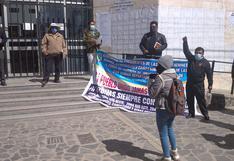 Juliaca: Dirigentes protestan y piden explicaciones sobre planta de oxígeno
