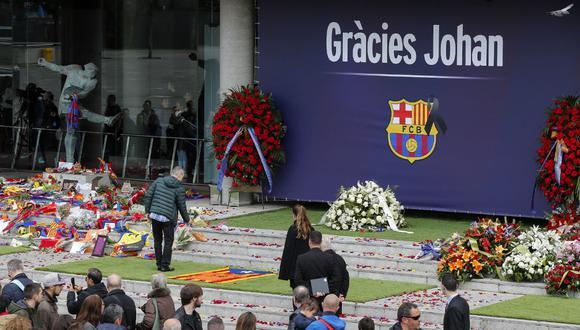 Cerca de 45 mil personas se han despedido de Johan Cruyff
