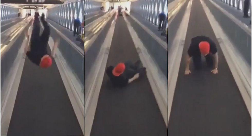 J Balvin desata risas al mostrar su fallido intento de salto mortal (VIDEO)