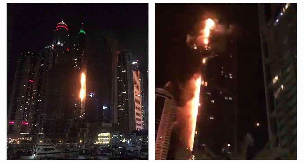 "Dubái: Gigantesco Incendio afectó rascacielos de 86 pisos ""The Torch"" [VIDEO]"