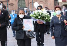 """Alcaldesa de Cusco: """"Seguiremos el ejemplo de vida que nos dejó Ricardo Valderrama"""""""
