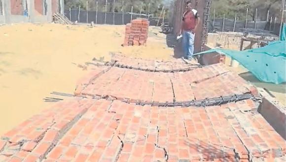 Tres paños del cerco perimétrico se desplomaron cual castillos de naipes. El teniente gobernador pide una mejor supervisión.