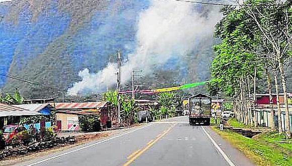 Incendio forestal en San Gabán supera 24 horas y no ha sido sofocado
