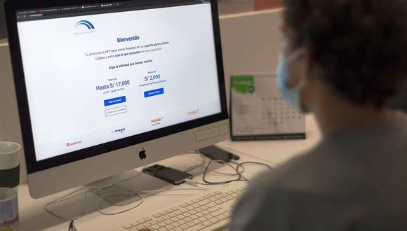 El trámite para realizar el retiro de S/ 17,600 es 100% virtual a través de la plataforma habilitada por las AFP. (Foto: Renzo Salazar / GEC)