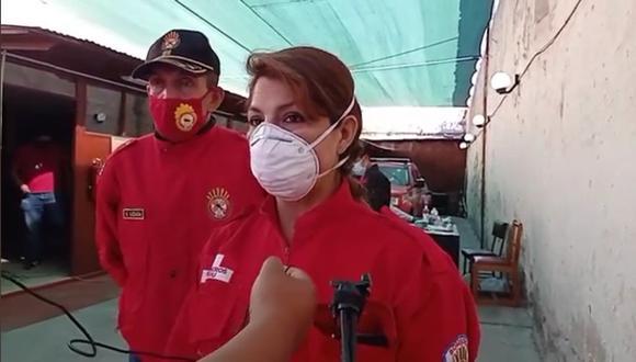 Bomberos de Arequipa piden ser vacunados contra el coronavirus