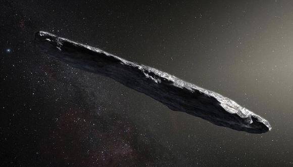 Oumuamua es el primer asteroide detectado que no proviene del Sistema Solar. (Foto: NASA)