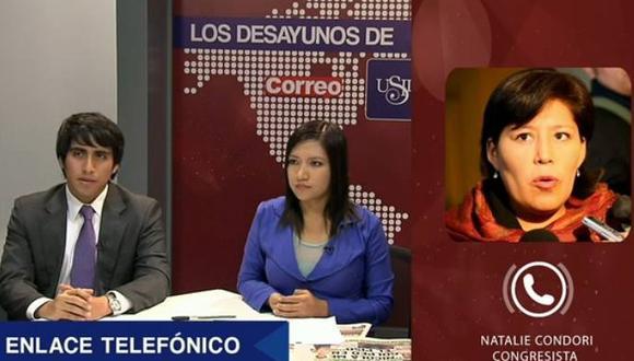 """Natalie Condori sobre Democracia y Dignidad: """"No hay ambición por ocupar la primera vicepresidencia"""""""