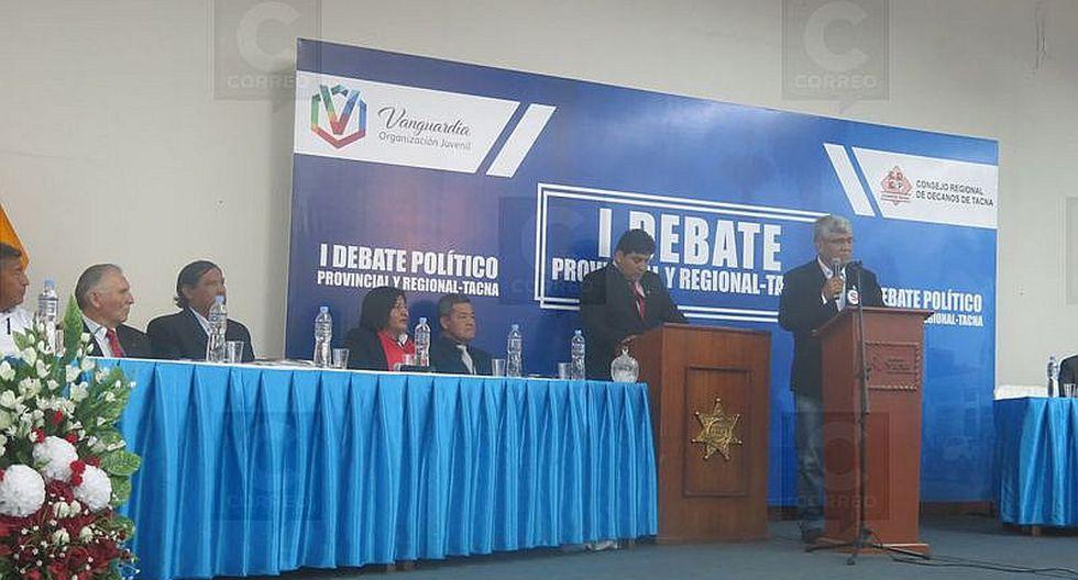 Desorden en debate de candidatos a la MPT