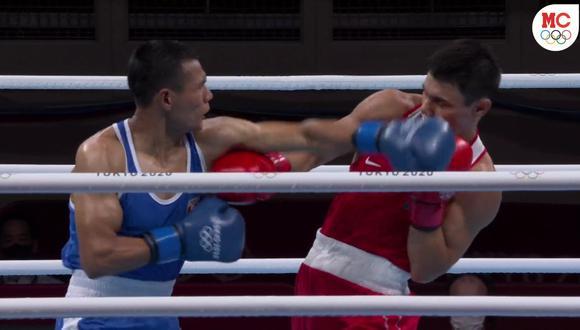 Leodan Pezo perdió ante Zakir Safiullin de Kazajstán en Tokio 2020. (Foto: Captura Marca Claro)