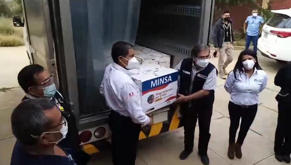 Segunfo bloque de vacunas llega a Huánuco/ Foto: cortesía