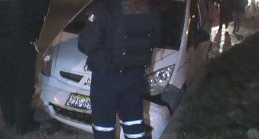 Juliaca: conductor se dio a la fuga tras despiste de su vehículo