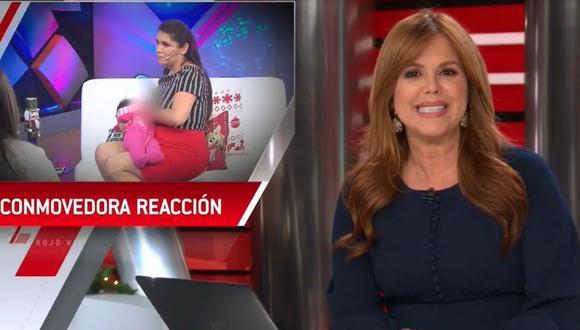 Telemundo destaca reacción de Lady Guillén/ Foto: Captura Telemundo