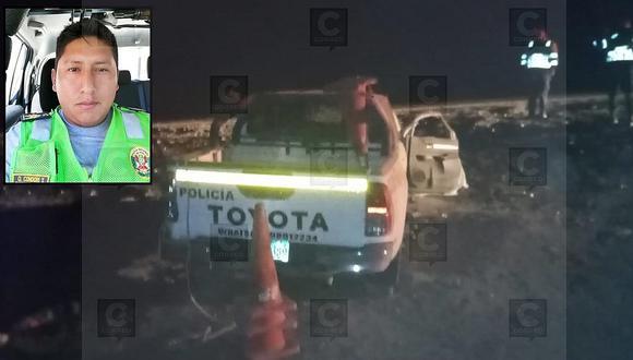 Policía de Carreteras fallece tras despiste de patrullero en la carretera Panamericana Sur