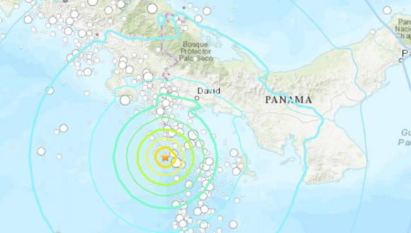 Se registra fuerte movimiento telúrico en Panamá. (Foto: USGS)