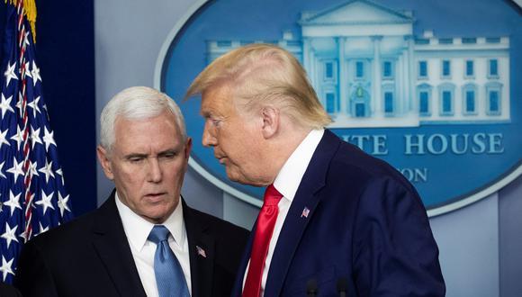 El presidente saliente de los Estados Unidos, Donald Trump, acusó a su vicepresidente, Mike Pence, de no apoyarlo para bloquear la victoria del demócrata, Joe Biden. (Foto: AFP)