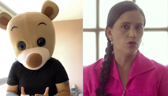 'Osito Lima' responde a Verónika Mendoza. | Foto: Composición