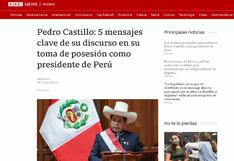 Así informó la prensa extranjera sobre el primer mensaje a la Nación de Pedro Castillo (FOTOS)