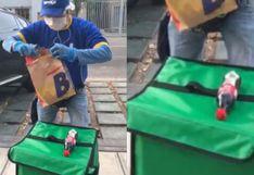 Cadena peruana de hamburguesería muestra protocolo de seguridad para la entrega de sus productos por delivery