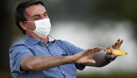 """Bolsonaro: """"¿De qué tienen miedo? Casi todos se contagiarán algún día"""" (Foto: EVARISTO SA / AFP)."""