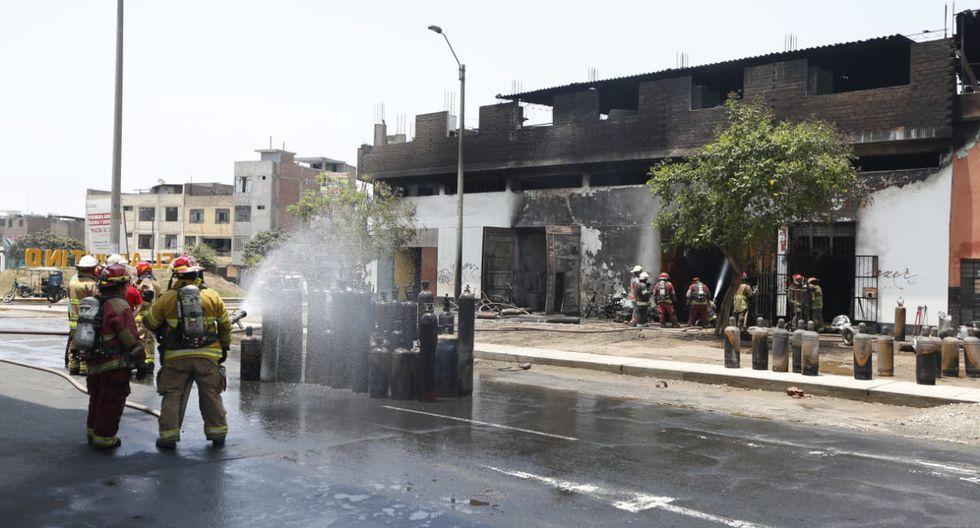 Reportan incendio en empresa de oxígeno en El Agustino - Foto: Francisco Neyra / GEC