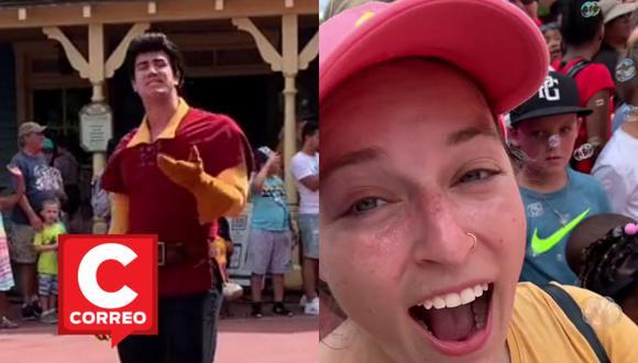 Una mujer fue protagonista de un curioso encuentro con uno de los personajes de los parques de Disney. | Crédito: @nots0swift / TikTok / Composición