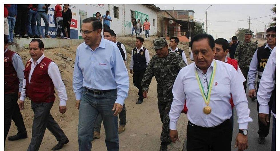 Reclamos airados contra el alcalde de Ignacio Escudero durante la visita de Vizcarra