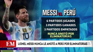 Messi nunca le anotó a la selección peruana por Eliminatorias