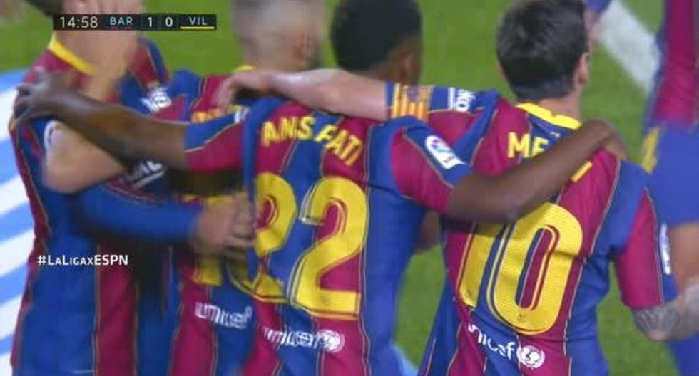 Barcelona vs. Villarreal: Ansu Fati anota el primer gol de la temporada azulgrana (VIDEO)