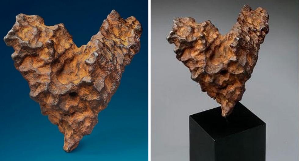 Subastan meteorito en forma de corazón para el Día de San Valentín